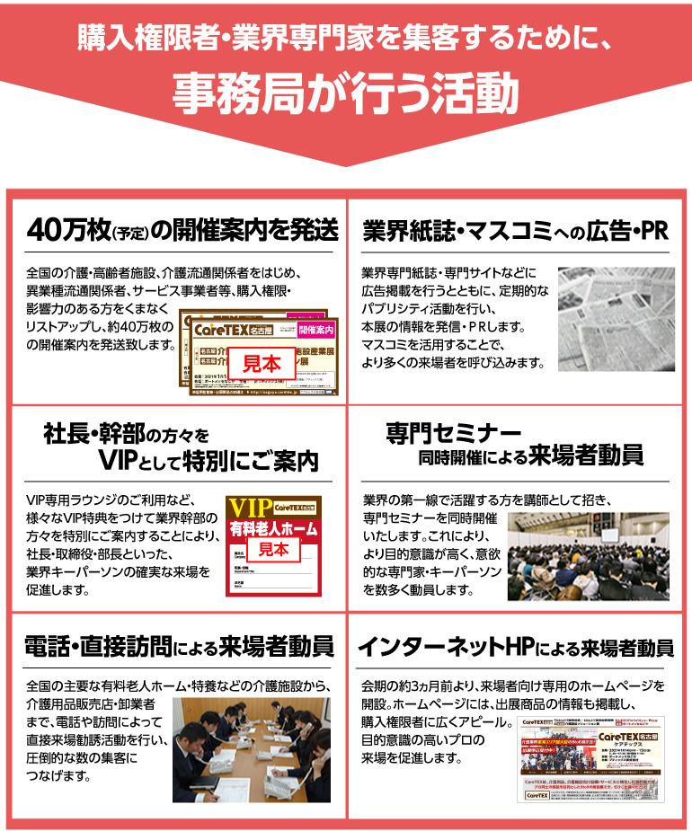 CareTEX名古屋事務局が行う活動