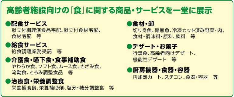 高齢者施設向けの「食」に関する商品・サービスを一堂に展示