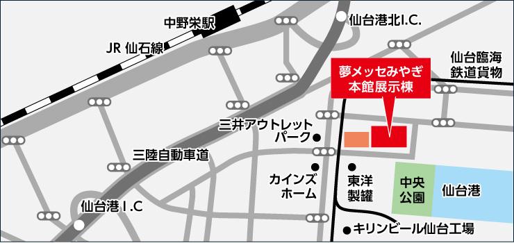 CareTEX仙台(ケアテックス仙台)近郊マップ
