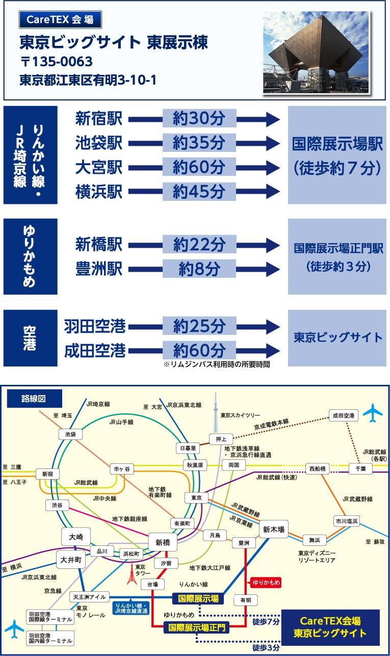 ケアフード東京 会場へのアクセス
