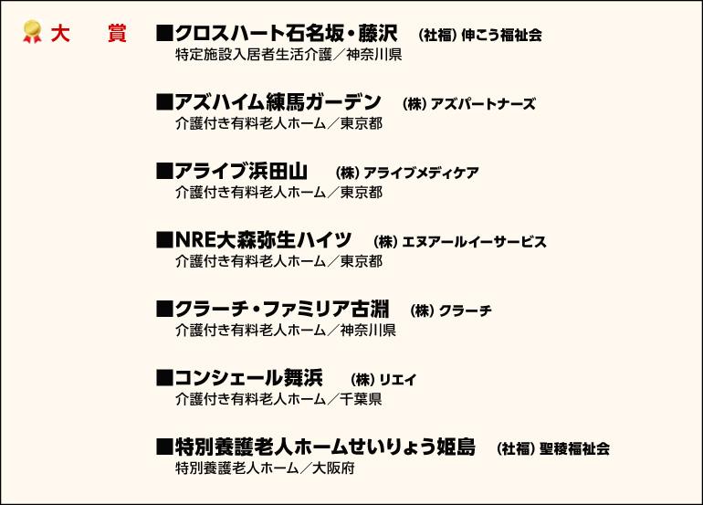 リビング・オブ・ザ・イヤー2018 受賞施設